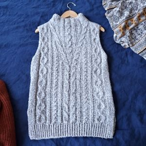 Topshop sleeveless cable-knit sweater